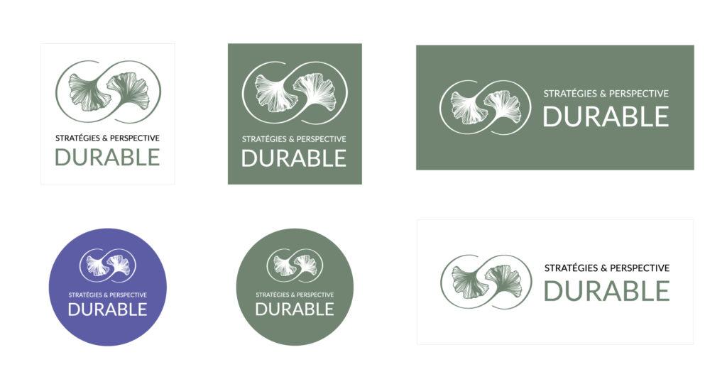 Déclinaisons du logo de Stratégies & Perspective Durable