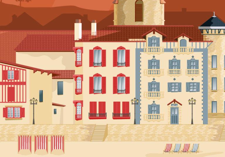 Illustration St Jean de Luz zoomée